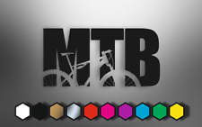MTB Stickers Decals Car Laptop Bumper Mountain Bike High Quality