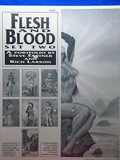 FLESH AND BLOOD SET TWO PORTFOLIO BY FASTNER & LARSON ~ SQP 1991~ OUT OF PRINT!