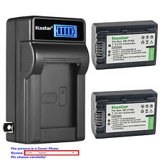 Kastar Battery LCD Wall Charger for Sony NP-FV50 & HDR-PJ230 HDR-PJ260 HDR-PJ26