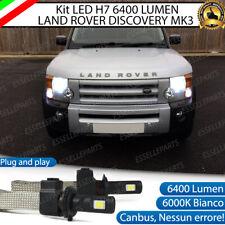 KIT LED H7 LAND ROVER DISCOVERY MK3 6000K BIANCO CANBUS 6400 LUMEN ANABBAGLIANTI