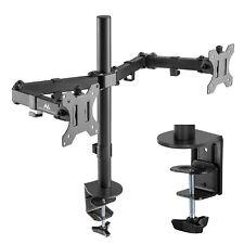 """Dual 2-fach Monitor Halterung Schreibtischhalterung Full Motion 17-32"""" Zoll"""