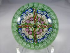 Vintage British Millifiori Glass Paperweight