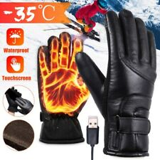 1Pair Mens Heated Gloves USB Electric Winter Outdoor Motorbike Motorcycle Warm