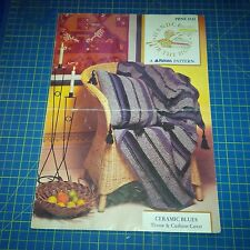 Patons Knitting Pattern Handcraft for the home Throw & Cushon Cover