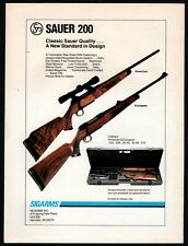 1988 Sig Sauer 200 Rifle Ad Sigarms Advertising