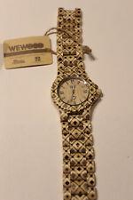 WEWOOD Armbanduhr Date Pat Beige Holzarmband Stahlschließe WW34002