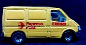 MATCHBOX FORD TRANSIT VAN EXPRESS POST YELLOW DIECAST 1/63 1986 loose good cond