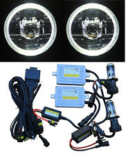 70W HID Headlight WHITE LED Halo for Toyota Landcruiser 40 60 75 78 79 series