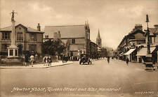 Newton Abbot. Queen Street & War Memorial # 83107 by Frith.
