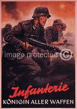 German WWii Army 11x17 Poster Infanterie Konigin Aller Waffen