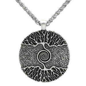 Anhänger mit Kette Baum des Lebens Yggdrasil Lebensbaum Amulett Wikinger Kelten