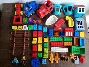 LEGO DUPLO lotto 1,2 Kg Mattoncini Misti Locomotiva Treno Omini Animali