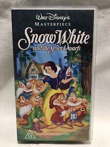 Snow White and the Seven Dwarfs PAL VHS Video Tape - WALT DISNEY Masterpiece