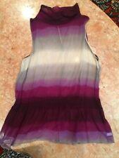 Women's Purple And Gray SHeer ANTONIO MELANI BLOUSE/TOP SIZE M