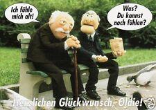 """Geburtstagskarte, Die Muppets / Statler and Waldorf  """"... Glückwunsch, Oldie!"""""""