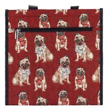 Mops Tasche Hund Signare Gobelin Einkaufstasche Einkaufsbeutel Shopper Tapestry