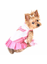 Simply Dog Pet Cheerleader Costume Dress XS S M L Dogs Cat Petco Halloween NWT