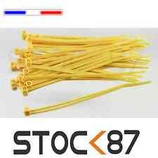 2501J# attache câble type rilsan jaune 10cm de 20 à 100pcs