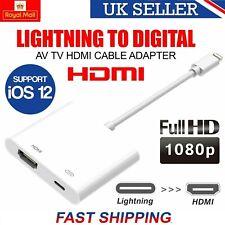 Lightning A Hdmi Cable Adaptador AV TV digital para Apple iPad iPhone 5 6 7 8 X XS