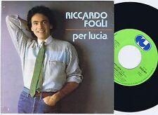 RICCARDO FOGLI Per Lucia Finnish 45PS 1983 Eurovision