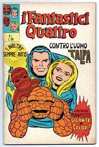 I FANTASTICI QUATTRO 4 editoriale corno N.1 CONTRO L' UOMO TALPA originale 1971