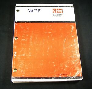 CASE W7E Loader Tractor Parts Manual Book Catalog List OEM