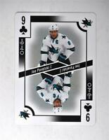 2017-18 O-Pee-Chee OPC Playing Card #9-CLUBS Joe Pavelski
