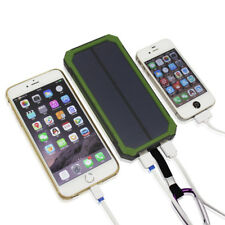 50000mAh 2USB Solar Power Bank 6LED Waterproof Battery Charger For Smart Phone