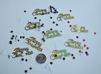 Wedding Table Scatters Foil Confetti Merry Christmas & Snowman Mix