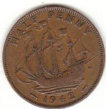 1942 HALF PENNY GEORGE VS V1 1/2d da collezione coin'S