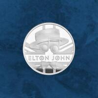 Großbritannien - Music Legends - Elton John - £1 Pound 2020 Silber PP