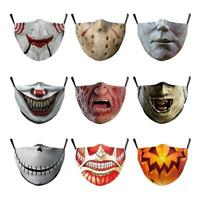 Reusable Stephen King IT Pennywise Clown Halloween Horror Adult Scary Face Mask
