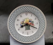 "Villeroy & Boch Wall Clock Plate BASKET 10"" Germany"