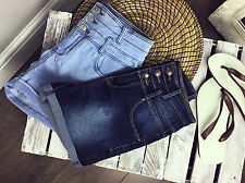 Ex New Look Denim Shorts High Rise Dark Blue or Light Blue