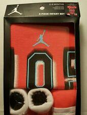 Nike Air Jordan 3 PC Pink Jump-man Creeper Set Infant  Booties Size 0-6 Months
