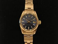 Reloj ROLEX DATEJUST LADY Wrist Watch - Swiss Vintage 1977 - Automatic Gold Blue