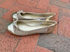 LANE BRYANT brand New Never Worn Ballet Flats Loafer GOLD Shoes Sz 12 W ❤️sj15m4
