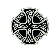 Patch backpack celtic cross irish wicca goth christian biker motorcycle