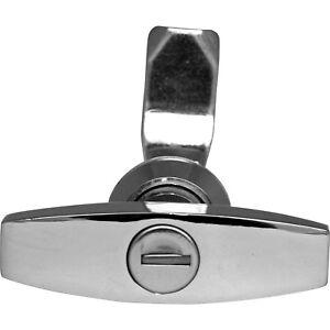 STAINLESS STEEL ENCLOSURE DOOR T HANDLE LOCK  with (100333) key
