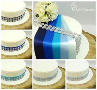 SATIN RIBBON 35mm FLOWER TRIM 2ROW CAKE DECORATION BIRTHDAY WEDDING CAKE TOPPER