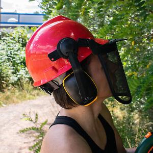 Forsthelm Forstschutzhelm Powertec Gesichts & Gehörschutz Schutzhelm Sicherheit