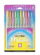 Sakura Gelly Roll Metallic Opaque Ink 0.4mm Medium Line 1.0mm Line 10 Pens 57370
