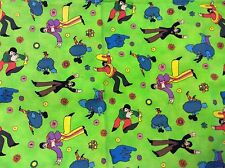 RPD575B The Beatles RARE Psychedelic Yellow Submarine Quilting Cotton Fabric