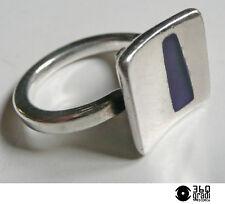 Uno A Erre 1AR anello modernista in argento 925 e smalti vintage 1970s