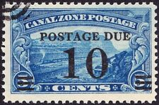 Canal Zone - 1929 - 10 Cents  on 5 Cents Blue Postage Due Surcharged Issue #J24