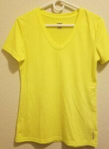 Women's Neon Yellow - Reebok - Play Dry T Shirt -Size Medium - Activewear