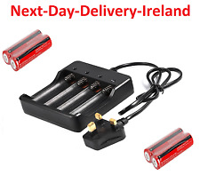4 Slot UK AC Plug Universal Battery Batteries Charger 3.7V 4x 18650 Rechargeable