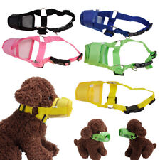 Dog Muzzles Safety Anti Bark Bite Chew Mesh Breathable Protects Pet Supply
