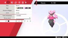 Pokemon Diancie  shiny 6IV + masterball - Battle Ready - Pokémon Epée/Bouclier