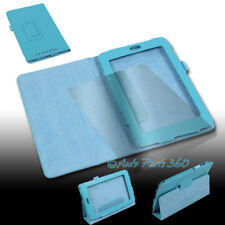 CASE COVER+SCREEN PROTECTOR STAND PU LEATHER AQUA BLUE FOR GOOGLE ASUS NEXUS 7""